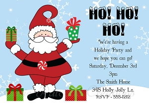Christmas Party Invitations by Cutie Patootie Creations