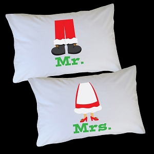 Personalized Santa and Mrs. Claus Pillow Case for Kids, Adults and Toddler