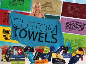 Beach Towel Party Favors for Bar and Bat Mitzvahs, Destination Weddings and Sweet 16
