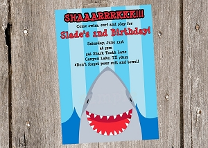 Shark Invitations