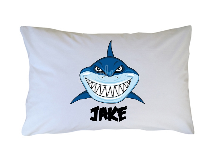 87f9d1a2988 Personalized Shark Pillow Case for Kids, Adults and Toddler