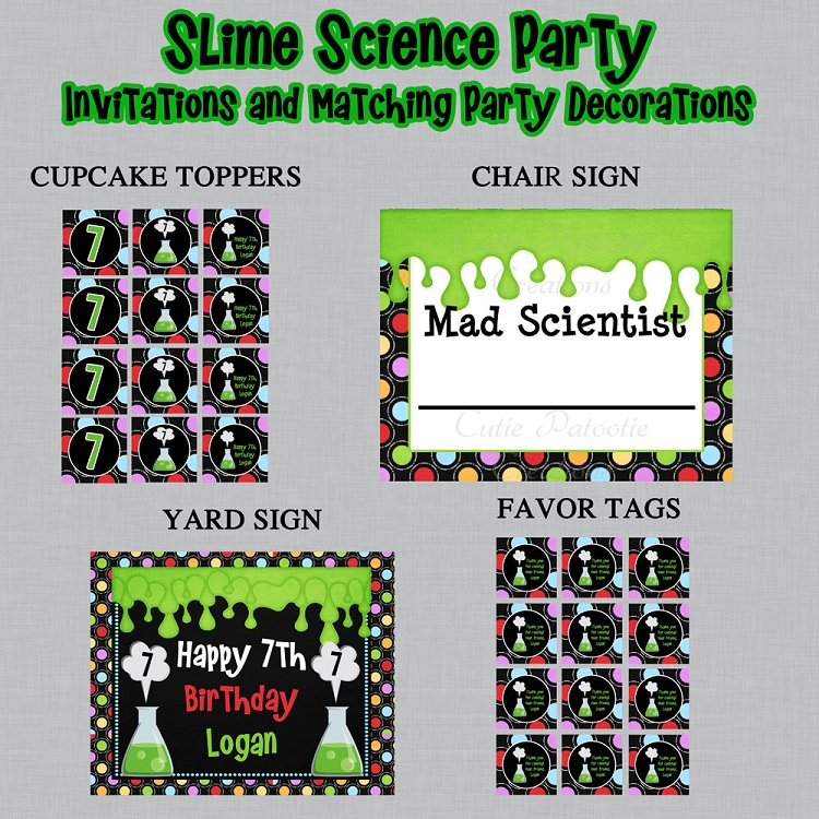 photo relating to Printable Mad Science Sign identified as Science Topic Printable Social gathering Bundle - Nuts Scientist
