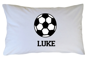 Personalized Soccer Ball Pillow Case for Kids, Adults and Toddler