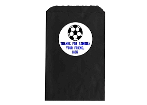 Soccer Ball Party Favor Bags and Personalized Stickers