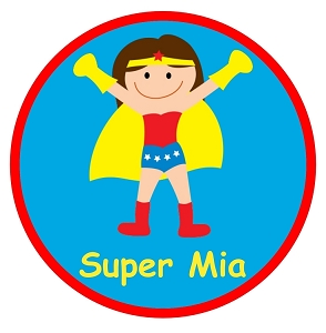 Personalized Girls Superhero TShirt or Onesie