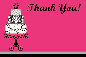 Sweet 16 Sixteen Thank You Note Cards