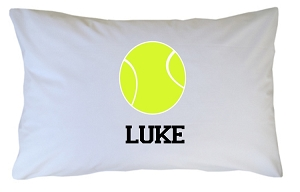 Personalized Tennis Ball Pillow Case for Kids, Adults and Toddler