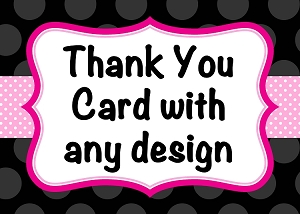 Personalized Thank You Note Cards for Kids or Adults
