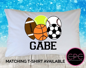 Personalized All Sports Pillowcase