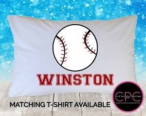 Personalized Baseball Pillowcase