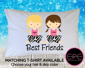 Personalized Best Friend Girls Pillowcase