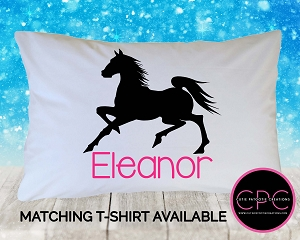 Personalized Black Stallion Pillowcase