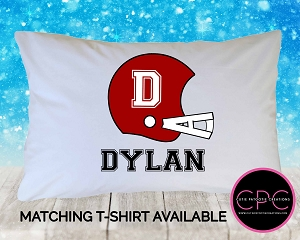 Personalized Football Helmet Pillowcase