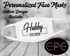 Personalized Wedding Hubby Face Mask - Wifey also Available
