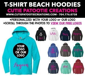 Beach Hoodie Mitzvah Party Favors - READ DESCRIPTION FOR INFO - CALL FOR PRICING