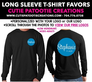Long Sleeve T-Shirt Mitzvah Party Favors - See Description for More Info