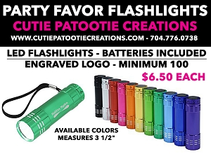 Party Favor Flashlights for Mitzvahs and Weddings | Minimum 100