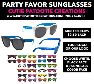 Personalized Party Favor Sunglasses with Logo