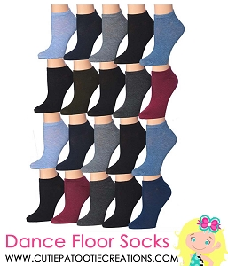 Dance Floor Party Socks - Blue, Black, Royal Blue and Grey