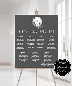 Space Theme Table Seating Chart