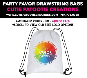 Drawstring Backpack with your Full Color Logo - See Description for More Info