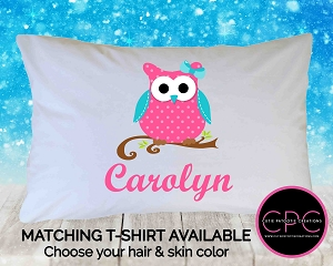 Personalized Owl Pillowcase
