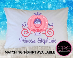Personalized Princess Carriage Pillowcase