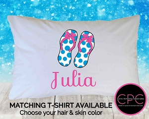 Personalized Flip Flops Pillowcase