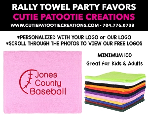 Party Favor Rally Towels for Mitzvahs, Weddings and Sweet 16