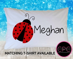 Personalized Ladybug Pillowcase