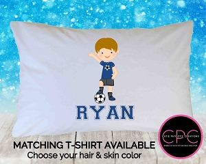 Personalized Soccer Player Pillowcase