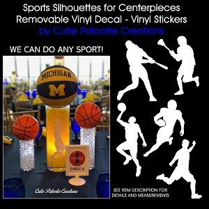 Basketball Player Vinyl Silhouette for Centerpieces - We also carry other sports
