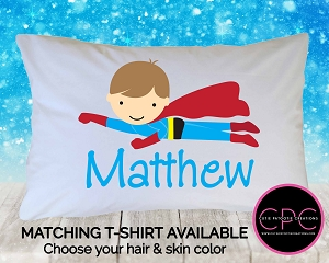 Personalized Superhero Pillowcase