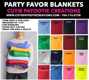 Stadium Fleece Blanket Mitzvah Party Favors - See Description for More Info