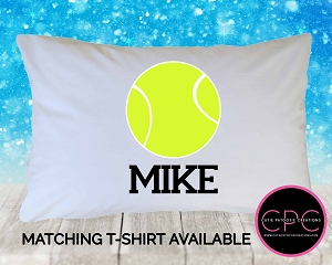 Personalized Tennis Ball Pillowcase