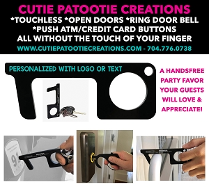 Touchless Key to Open Doors and Push Buttons Engraved with your Logo or Text