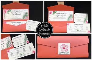 Destination Wedding Travel Invitation - Colors and Theme Fully Customizable