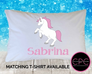 Personalized Unicorn Pillowcase