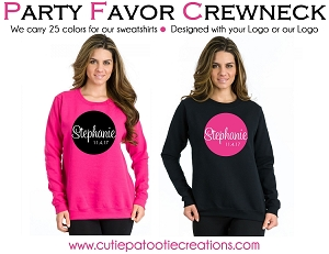 Personalized Crew Neck Sweatshirts with your Logo - Low Minimums - CALL FOR PRICING