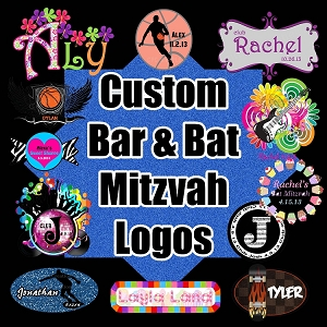 Custom Bar and Bat Mitzvah Logo by Cutie Patootie Creations