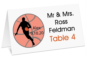 Custom Personalized Basketball Sports Place Cards