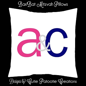 B'nai Mitzvah Sign in Board or Sign in Pillow - Custom Colors Available