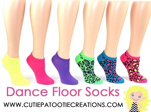 Dance Floor Party Socks - Bright Leopard Animal Prints for Mitzvahs, Weddings and Sweet 16