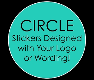Personalized CIRCLE Stickers for Mitzvahs, Weddings, Birthdays, Sweet 16's
