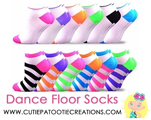 Dance Floor Party Socks - Colorful Candy Stripe Socks for Bar and Bat Mitzvah