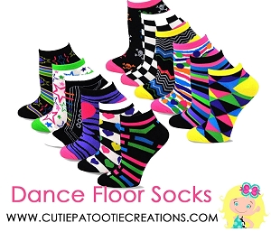 Dance Floor Party Socks for Bar and Bat Mitzvahs Multi Colors and Patterns