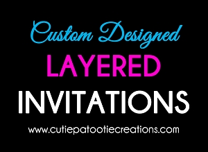 Customize Your Own Double Layered Bar or Bat Mitzvah Invitation