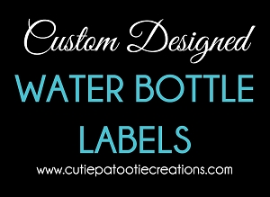 Custom Designed Welcome Bag Water Bottle Labels - Choose Your Colors - Add Your Logo