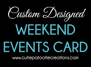 Custom Designed Weekend Event Cards - Choose Your Colors - Add Your Logo