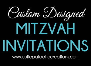 Custom Designed Mitzvah Invitations - PLEASE READ DESCRIPTION BELOW